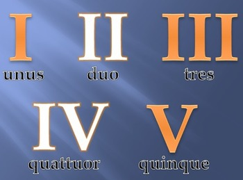 Roman Numerals and Latin Numbers