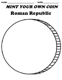 """Roman Republic """"Create your own Coin"""" Worksheet & Word Search"""