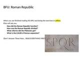 Roman Republic: Plebeians and Patricians (Reading & Activity)