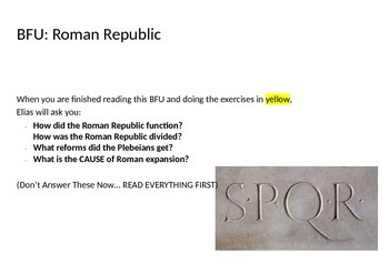 Roman Republic: Plebeians and Patricians (Reading & Activity)