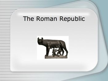 Roman Republic PowerPoint for High School World or Ancient