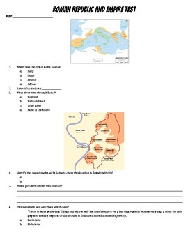 Roman Republic and Empire Test