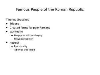 Roman Republic in a Day ppt