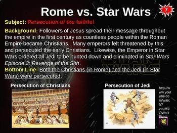 Roman Republic/Empire vs STAR WARS: 10 similarities w/ links & graphic organizer