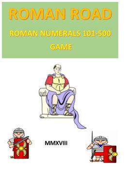 Roman Road Board Game 3  Roman Numerals 501 - 1000