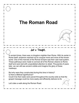 Roman Road: The Road to Salvation Activity Booklet
