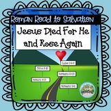 Roman Road to Salvation Bible Verse Sticker Activity Book John, Romans, Luke