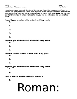 Roman Society and Culture Lesson Plan