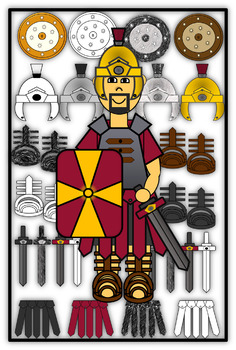 Roman Soldier and Armor Clip Art