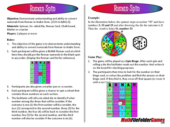 """Roman Spin - Convert Numerals from Roman to Arabic Form """"B"""
