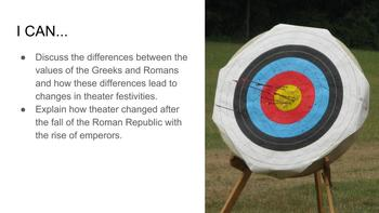 Roman Theater Notes Presentations & Quiz