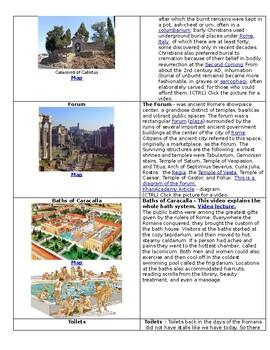 Roman Empire Tour - Graphical Organizer - Bill Burton