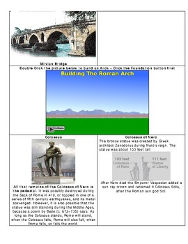 Roman Tour PDF - Graphical Organizer - Bill Burton