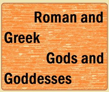 Roman and Greek Gods and Goddesses Lesson Plan
