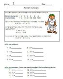 Roman numeral worksheet for 3rd grade