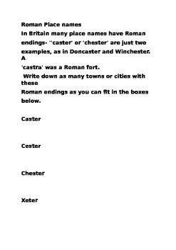 Roman place names