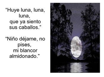 Romance a la luna, luna
