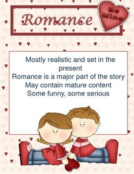 Printable Genre Sign: Romance