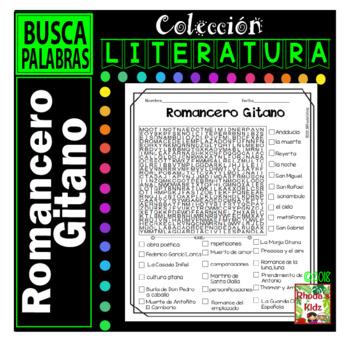 Romancero Gitano  -Word search
