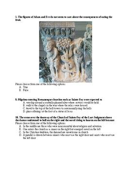Romanesque Art Test (AP Art History)