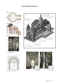 Romanesque and Gothic elements