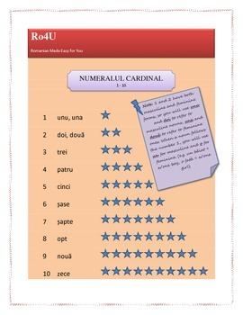 Romanian cardinal numbers