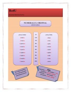 Romanian ordinal numbers