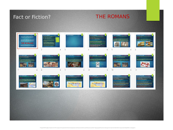 """Romans """"Fact vs. Fiction"""" 12 statements (6 true & 6 false)"""