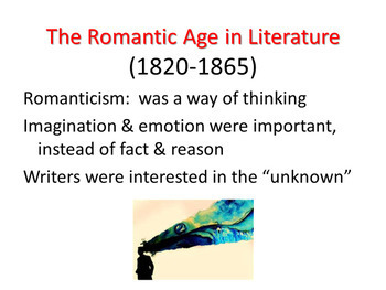Romantic Age Introductory PowerPoint, 33 slides, audio story readings