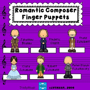 Romantic Composer Finger Puppets (for listening)