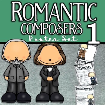 Romantic Composers Poster Set