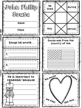 Romantic Composers Quilt Worksheets (Set 1)