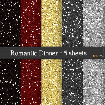 """Romantic"" Glitter Paper"