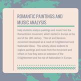 Romantic Movement through Paintings and Music Analysis