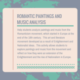 Romantic Movement through Paintings and Music Analysis