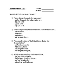 Romantic Music Quiz