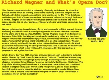 Romantic Music - Richard Wagner and What's Opera Doc?