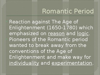 Romantic Period Poetry