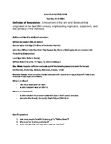 Romantic Period Study Guide Literature