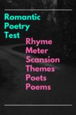 Romantic Poetry Test
