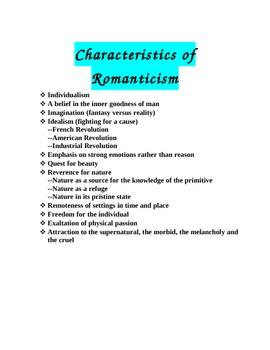 Romantic Poets - Students Analyze and Present