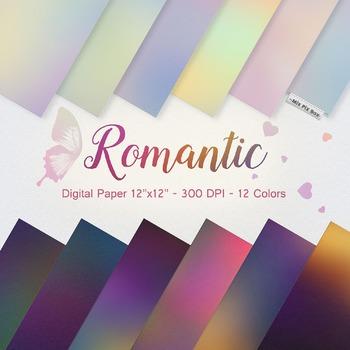 Romantic digital paper