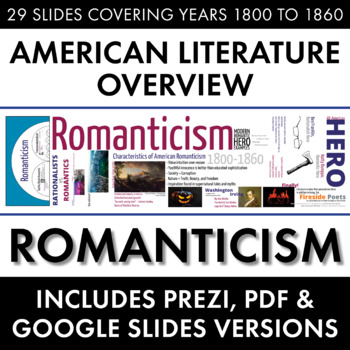 Romanticism, American Literature Overview Lecture, Transcendentalism & More