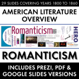 Romanticism, American Literature Overview Lecture, Transcendentalism & More