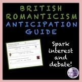 British Romanticism Anticipation Guide