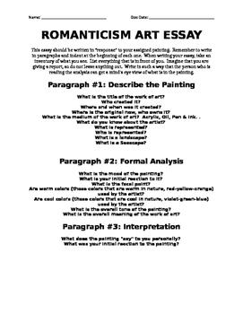 Romanticism Art Essay
