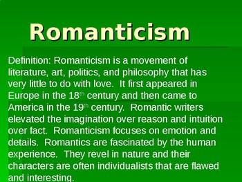 Romanticism Notes