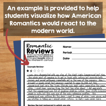 Romanticism Writing Activity
