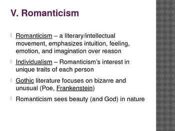 Romanticism and Realism in the 19th Century