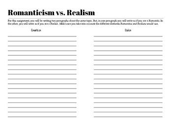 Romanticism vs. Realism